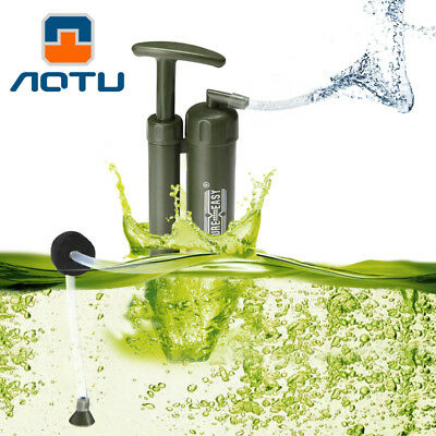 AOTU Portable Army Soldier Water Filter Purifier for Hiking Camping Survival G3E