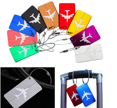 New Aluminum Luggage Tags Suitcase Label Name Address ID Bag Baggage Tag Travel