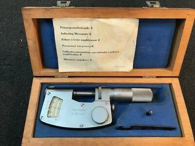 Steinmeyer German Precision Comparator Micrometer 0 to 25mm