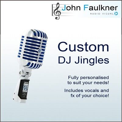PERSONALISED DJ JINGLE  Voice Over  DJ Drop  5 seconds  Free