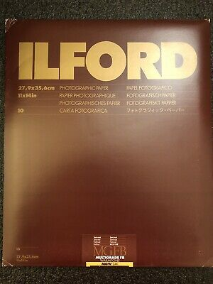 "ILford MGFB Multigrade FB Warmtone Photographic Paper 11x14"" Semi Matt 10 Sheets"