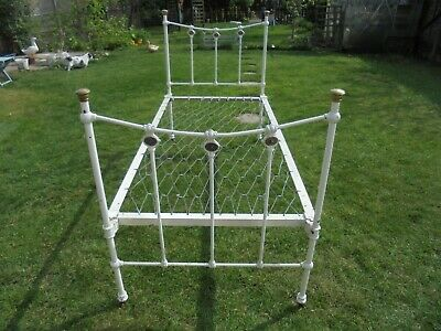 Antique Victorian Cast Iron Single Bed (Possible Delivery - See My Notes)