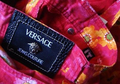TROUSERS vintage VERSACE Jeans Couture made in Italy TG 30-44 circa S/M