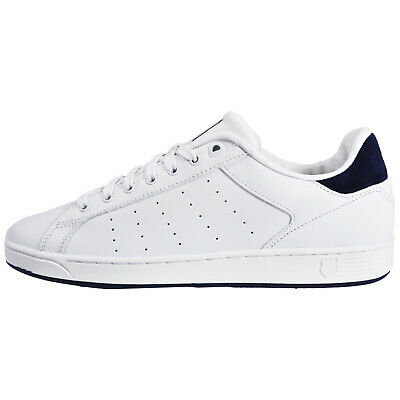 brand new cb7eb f1a44 K SWISS CLEAN Court Mens Memory Foam Classic Casual Retro Trainers White