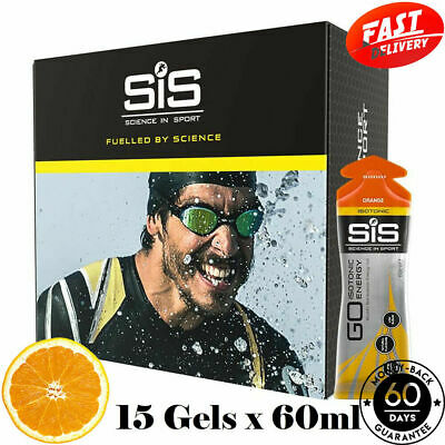 15 x 60ml Effectively Isotonic Energy Gels Pack Science In Sport SIS Go Orange