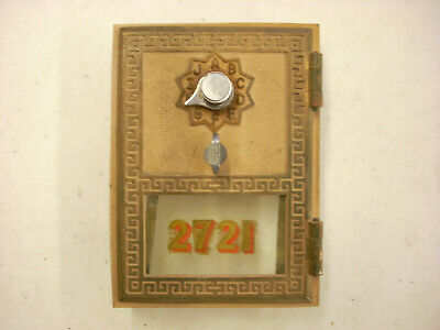 Vintage 1962 Post Office box door and frame # 2721, Made by Federal Lock