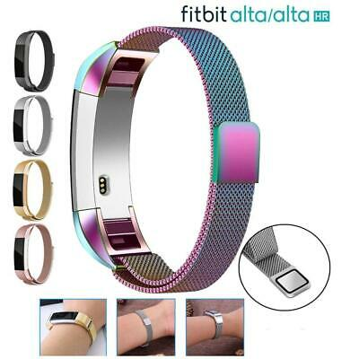 For Fitbit Alta / Alta HR Magnetic Milanese Stainless Steel Watch Band Strap S/L