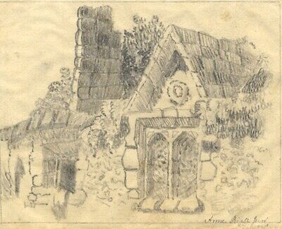 Anne Riall, Heywood Church Window - Early 19th-century graphite drawing