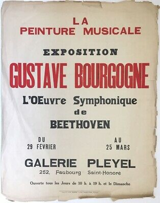 Gustave Bourgogne, Exhibition Poster - Original mid-20th-century printed poster