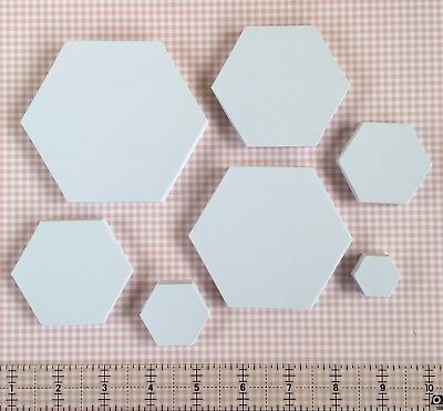 Paper Hexagon Templates | 120gsm | Pack Sizes 100/250