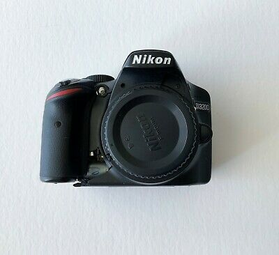 Nikon D D3200 24.2MP Digital SLR Camera Black (Body Only) - FOR PARTS   AS IS