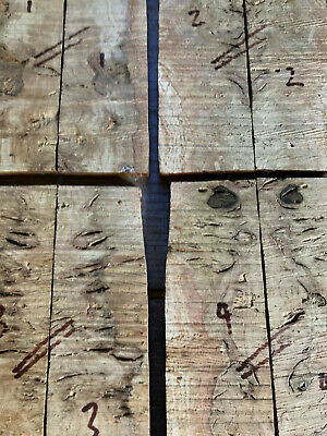 Burr / burl English oak bookmatched knife scale / knife handle sets 8mm thick