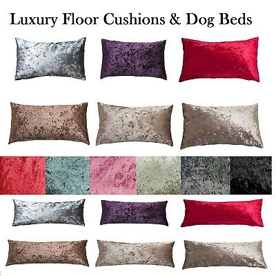 Luxury Reversible Crushed Velvet DOG BEDS With Or Without Cushions Large X Large