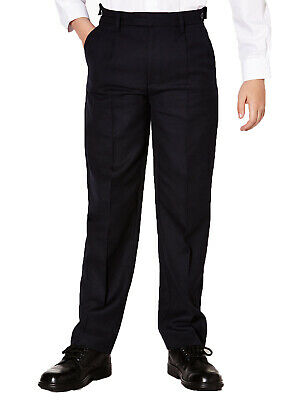 Boys School Trousers Black SHORT Length 11-12 Up to 15-16 Years High School Wear