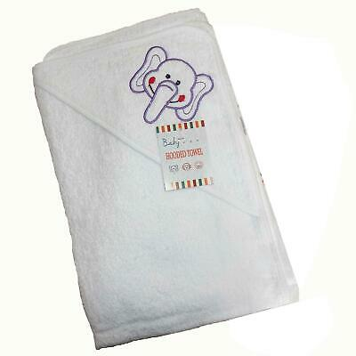 Hooded Towel Childrens Cuddle Robe Elephant 74 x 74 cm 100% cotton