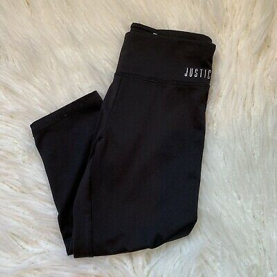 Justice Girls Crop Performance Leggings Size 10