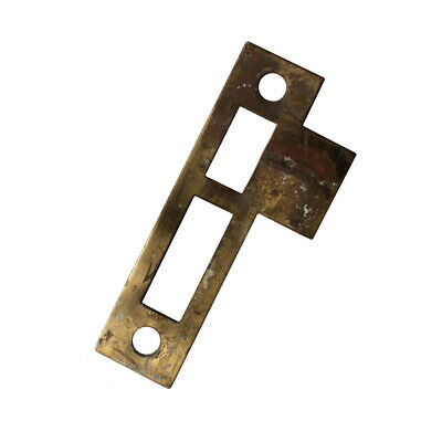 """Antique Salvaged Strike Plates for Mortise Locks, 7/32"""" Spacing, NSTP37"""