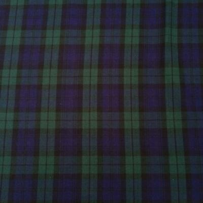 Classic Black Watch Check Tartan Poly Viscose Fabric 150cm wide sold by metre