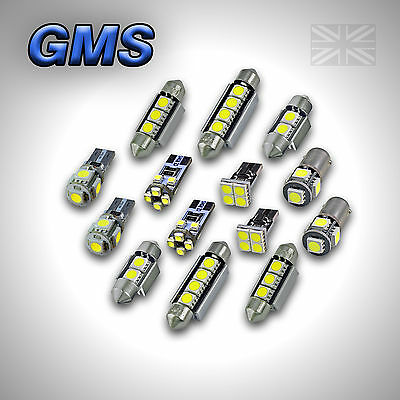 Honda Accord Vii Mk7 Error Free Interior Car Led Lights Bulb Kit - Xenon White