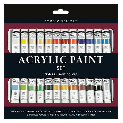 Peter Pauper Press Inc. Artist's 24 Color Acrylic Paint Set