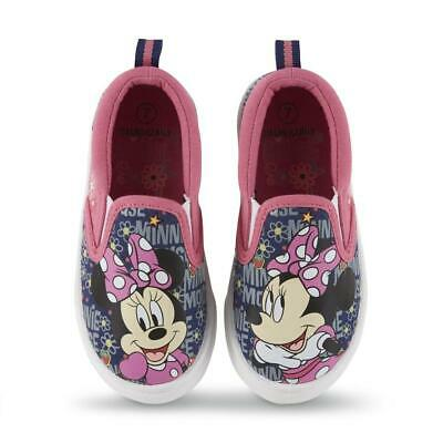 NEW Disney Toddler Girls Mickey and Minnie Mouse Canvas Shoes,Sz: 6 7 8 9 10 11