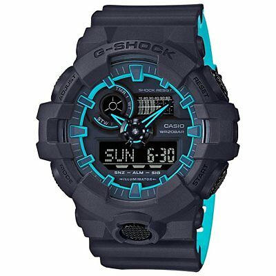 Casio G-Shock Layered Neon Colors Ana Digi World Time Men's Watch GA-700SE-1A2