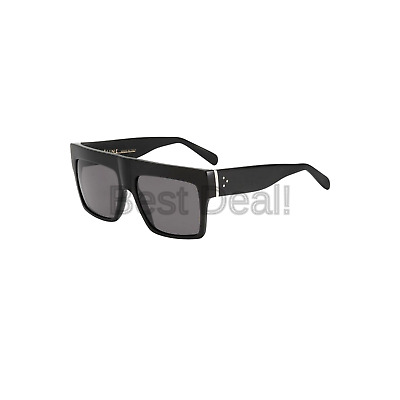 989637cda0 Celine 41756 807 Black ZZ Top Square Sunglasses Polarised Lens Category 3  Size