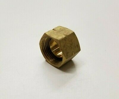 """Brass Compression Nuts 3/8"""" with captive sleeve  100 pcs"""