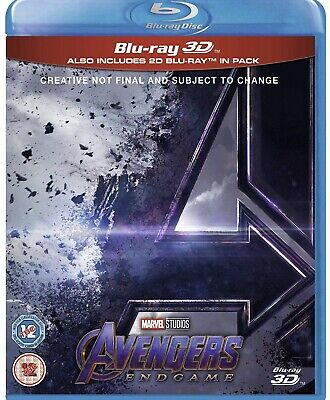 Avengers Endgame 3D and 2D Blu Ray PRE-ORDER  New!  from UK,Region Free