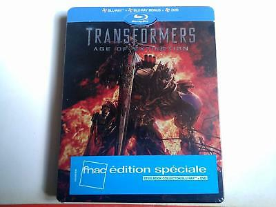 Transformers Age Extinction  Steelbook  Blu Ray  Neuf Sous Cellophane