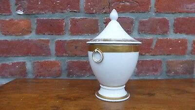 Ancien sucrier couvert porcelaine Paris. Empire XIXème. Antique sugar bowl