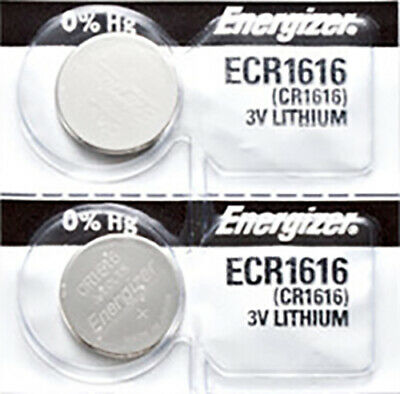 2 x Energizer CR1616 Batteries, Lithium Battery 1616   Shipped from Canada