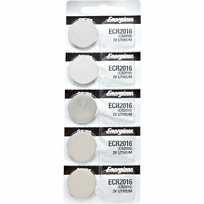 5 x Energizer CR2016 Batteries, Lithium Battery 2016 | Shipped from Canada