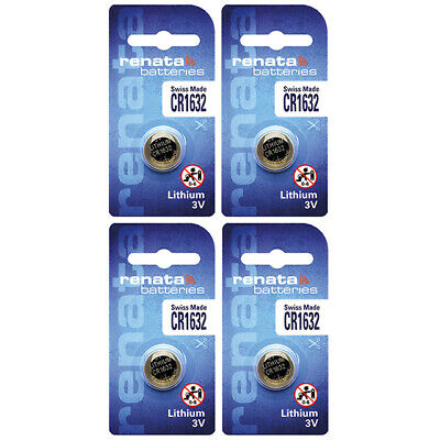 4 x Renata CR1632 Batteries, Lithium Battery 1632 | Shipped from Canada