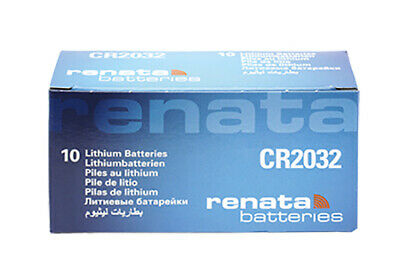 10 x Renata CR2032 Batteries, Lithium Battery 2032 | Shipped from Canada