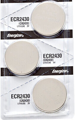 3 x Energizer CR2430 Batteries, Lithium Battery 2430   Shipped from Canada