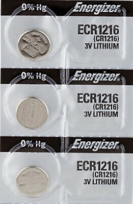 3 x Energizer CR1216 Batteries, Lithium Battery 1216 | Shipped from Canada