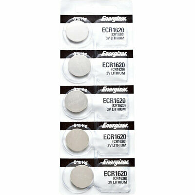5 x Energizer CR1620 Batteries, Lithium Battery 1620   Shipped from Canada