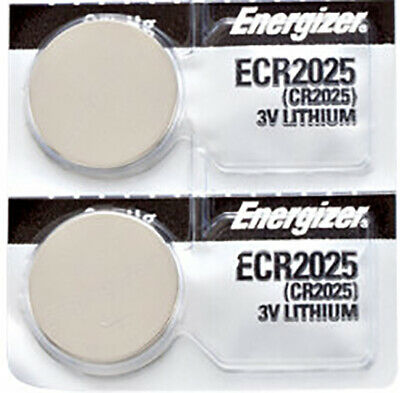 2 x Energizer CR2025 Batteries, Lithium Battery 2025 | Shipped from Canada