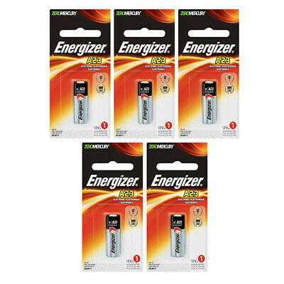 5 x Energizer 23A Batteries, Mini Alkaline 23A   Shipped from Canada