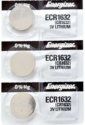 3 x Energizer CR1632 Batteries, Lithium Battery 1632 | Shipped from Canada