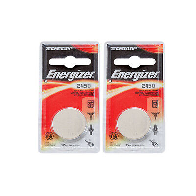 2 x Energizer CR2450 Batteries, Lithium Battery 2450 | Shipped from Canada