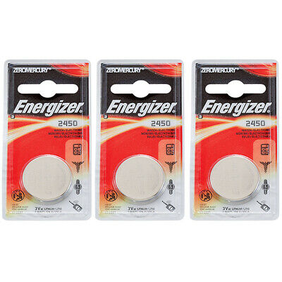 3 x Energizer CR2450 Batteries, Lithium Battery 2450 | Shipped from Canada