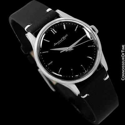 1961 IWC Vintage Mens Caliber 89 SS Steel Watch - Restored - Mint with Warranty