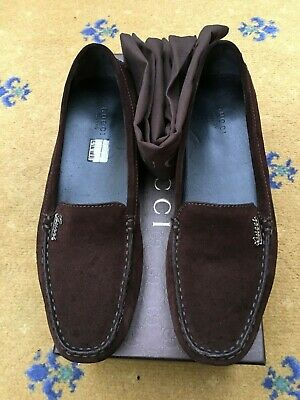349b7c7f8 Gucci Womens Shoes Brown Suede Loafers UK 6 US 8 EU 39 Ladies Drivers Script