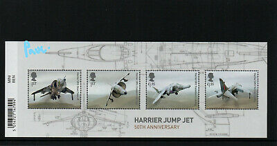 GB 2019 The British Engineering Harrier Jump Jet Mini Sheet With Barcode