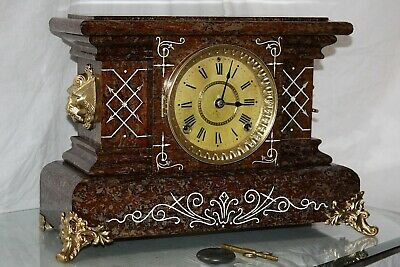 SETH THOMAS Mantel Antique Clock c/1894-  RESTORED --