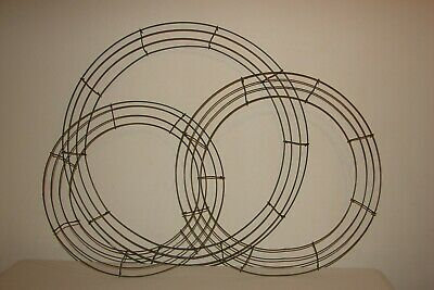 Lot of 3 Sizes Round Metal Wreath Frame Ring DIY Floral Craft Wire Forms