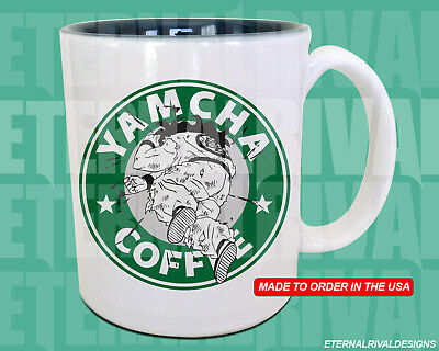 Yamcha Crater Dragon Ball Z Starbucks Anime Manga Japanese Insipred Cartoon Mug