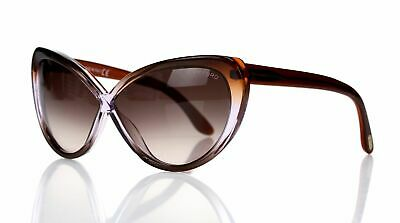 39b9345a0d6a New Tom Ford Madison Sunglasses FT0253F TF 253 50Z Violet Frame Brown Lens  Sz63